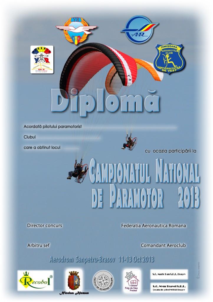 Diploma CN Paramotor 2013
