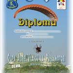 diploma paramotor cupa Aurel Vlaicu 2012
